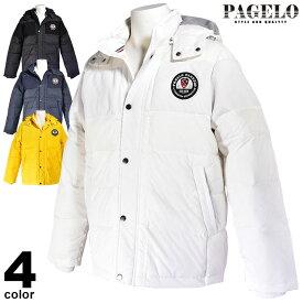 パジェロ PAGELO ダウンジャケット メンズ 2019秋冬 フード付き 取り外し可 ロゴ 95-3105-06