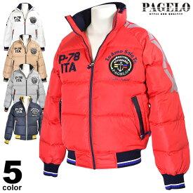 パジェロ PAGELO ダウンジャケット メンズ 2020秋冬 ワッペン リブ ロゴ 07-3110-07