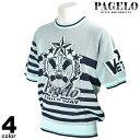 パジェロ PAGELO 半袖 ニット メンズ 2020春夏 クルーネック ボーダー 01-7603-07
