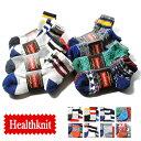 クォーターソックス 3Pセット Healthknitヘルスニット/メンズ ミドルソックス 靴下3足セット 厚手