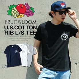 ロゴTシャツ サークルロゴ FRUIT OF THE LOOM メンズTシャツ パックT Tシャツ フルーツオブザルーム ブラック ネイビー グレー ホワイト Sサイズ XLサイズ コットン 綿