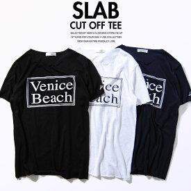 Tシャツ ベニスビーチ スラブ天竺 夏物 半袖 カットソー Uネック メンズ サーフスタイル ストリートスタイル