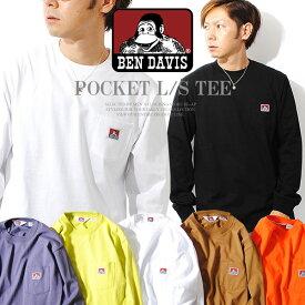ロンT ben davis ベンデイビス heavy ounce L/S T-shirts ヘヴィウェイト 厚手 長袖Tシャツ ポケット ポケT ベンデービス ワンポイント