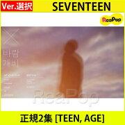 送料無料【2次予約】SEVENTEEN正規2集[TEEN,AGE]バージョンランダム【CD】【発売11月6日】【11月17日発送予定】