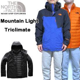 ノースフェイス メンズ ダウンジャケット ゴアテックス Mountain Light Triclimate Jacket 紺 18新作 アウター