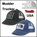 ノースフェイス 帽子 THE NORTH FACE キッズ メッシュ キャップ MUDDER TRUCKER CAP スナップバック
