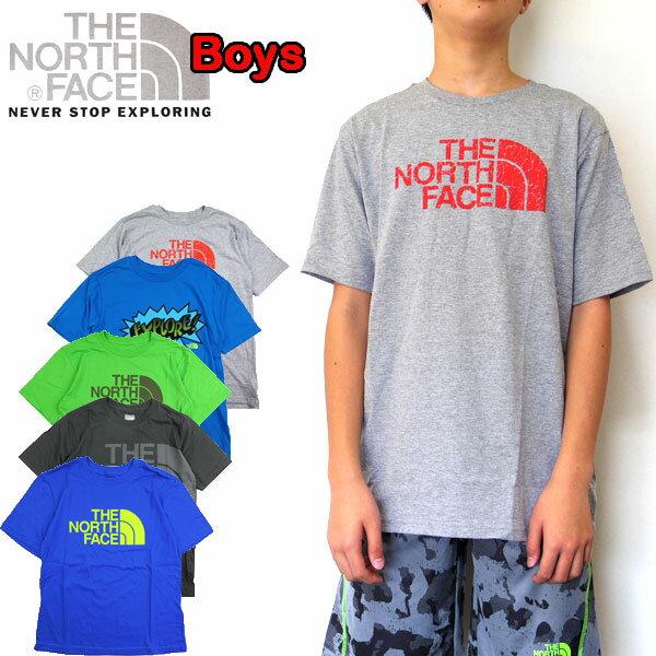 ノースフェイス キッズ Tシャツ THE NORTH FACE BOYS GRAPHIC TEE ジュニア ロゴ 120 130 140 150 160 170cm