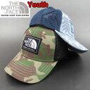 ノースフェイス キッズ 帽子 THE NORTH FACE メッシュ キャップ PRINT MUDDER TRUCKER CAP 男の子 女の子
