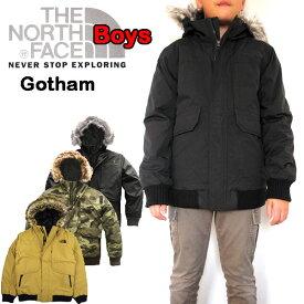 ノースフェイス キッズ ダウンジャケット THE NORTH FACE 男の子 BOYS GOTHAM DOWN 19FW新作 120 130 140 150 160 170cm 黒 グレー