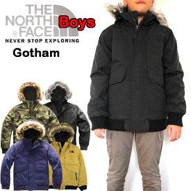 ノースフェイス ダウン キッズ ジャケット THE NORTH FACE アウター 男の子 BOYS GOTHAM DOWN 19FW 120 130 140 150 160 170cm 黒 グレー