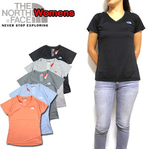 ノースフェイス レディース Tシャツ Reaxion Amp V-Neck T Vネック THE NORTH FACE S18 ティーシャツ