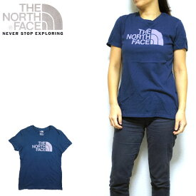 ノースフェイス THE NORTH FACE レディース Tシャツ Half Dome Crew Tee XS S M L ネイビー