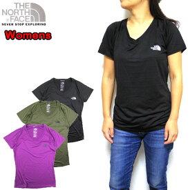 ノースフェイス THE NORTH FACE レディース Tシャツ 速乾 Vネック Reaxion Amp V-Neck T 19新作 ティーシャツ 05P03Dec16