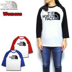 ノースフェイス レディース Tシャツ ロンT THE NORTH FACE 3/4 BB GLOSSY TEE 7部袖 ラグラン XS S M L