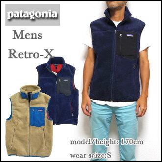 巴他戈尼亚重新流行X fleece最好人#23047 Patagonia Mens最好Classic Retro-X VEST 532P26Feb16