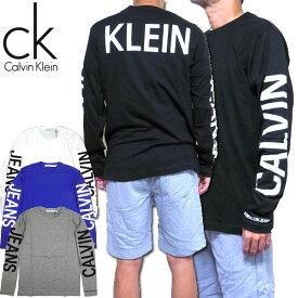 カルバンクライン Tシャツ ロンT メンズ 長袖 ジーンズ Calvin Klein Jeans Back Print 41L7765 ブランド