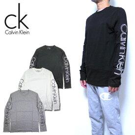 カルバンクライン ロンT Tシャツ メンズ 長袖 Calvin Klein Printed Logo 40AC879 20新作