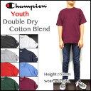 Champion チャンピオン Tシャツ キッズ USA ジュニア BOYS DOUBLE DRY COTTON BLEND T435