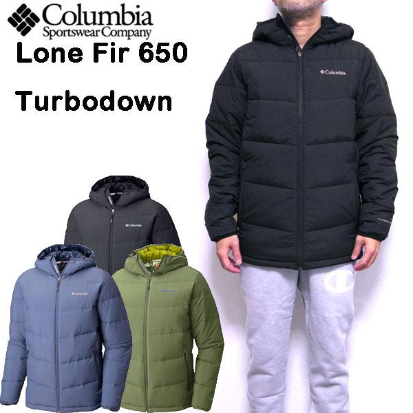 コロンビア COLUMBIA ダウンジャケット メンズ Lone Fir 650 Turbo Down Hooded Jacket 18秋冬 S M L XL
