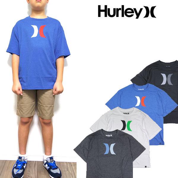 HURLEY ハーレー キッズ Tシャツ ボーイズ BOYS ICON TEE ジュニア ロゴ ティーシャツ 半袖 男の子 140 150 160
