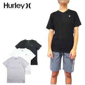 ハーレー HURLEY Tシャツ キッズ Vネック BOYS STAPLE V-NECK TEE ボーイズ ジュニア ロゴ 半袖