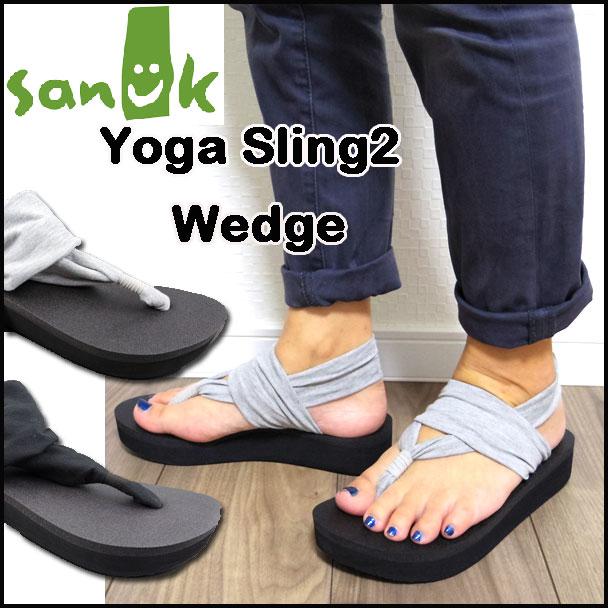 Sanuk サヌーク レディース 厚底 サンダル Yoga Sling 2 Wedge ヨガスリング2 1016351