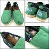 TOMS SHOES / Tom's shoes / women's / slip-on /Womens Bimini Stitchout / green / Bimini stitch out