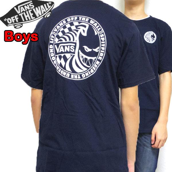 バンズ VANS キッズ Tシャツ BOYS VANS SPITFIRE TEE ティーシャツ 半袖 男の子 130 140 150 160 170