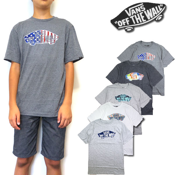 VANS バンズ キッズ Tシャツ BOYS OTW LOGO FILL ジュニア ティーシャツ 半袖 130 140 150 160 170
