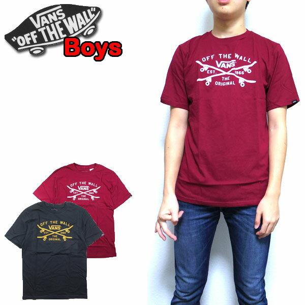 バンズ VANS キッズ Tシャツ ボーイズ BOYS SKATE LOCK UP TEE 男の子 スケボー ロゴ 半袖 120 130 140 150 160 170
