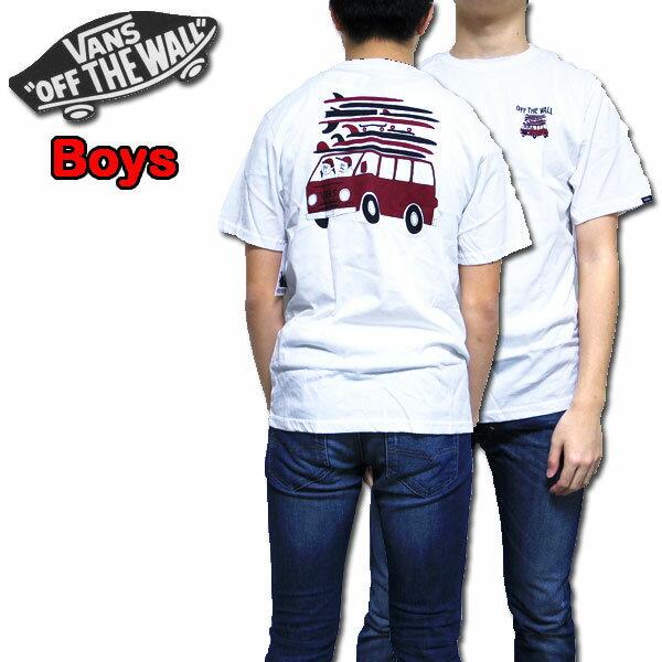 バンズ VANS キッズ Tシャツ ボーイズ BOYS YUSUKE VAN TEE 男の子 ロゴ 半袖 120 130 140 150 160 170