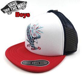 バンズ VANS キッズ メッシュ キャップ WALSH TRUCKER CAP 19新作 トラッカーハット 帽子 男の子