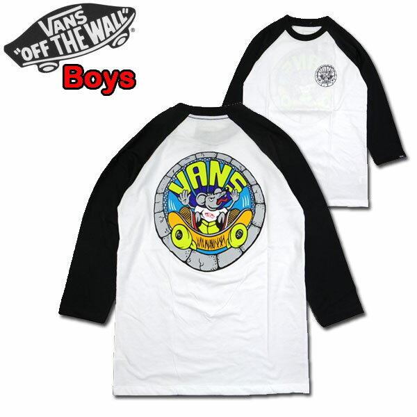 バンズ VANS キッズ Tシャツ BOYS RIPPIN RAT RAGLAN TEE ジュニア 7部袖 ティーシャツ