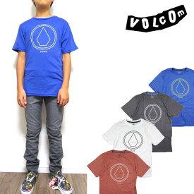 ボルコム キッズ Tシャツ VOLCOM PIN LINE STONE TEE ボーイズ ジュニア ロゴ 半袖