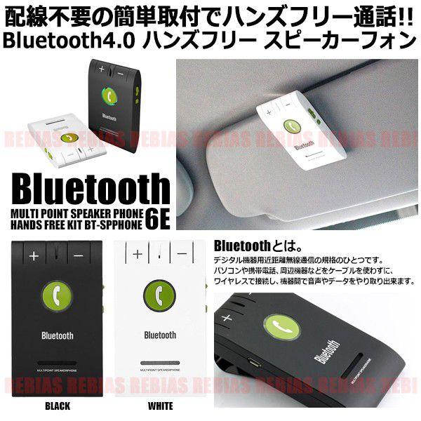 Bluetooth ハンズフリー スピーカーフォン バイザー取付タイプ iPhone Android