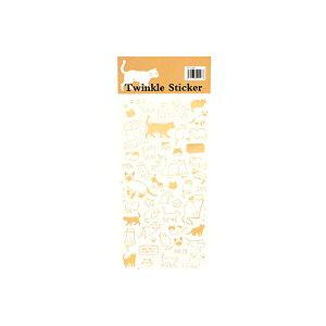 【メール便対応可能】ゴールドポイントシール 猫 キャット グッズ ステッカー 花 文字 ゴールド 可愛い おしゃれ 本 ブック 手帳 記録 可愛い