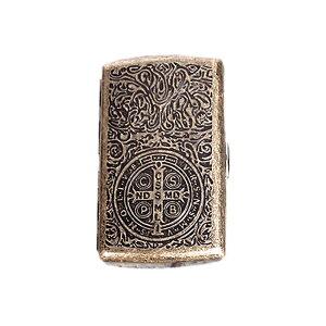 【メール便対応可能】シガーレットケース 彫金 タバコケース シガレット 収納 アンティーク調 バロック ゲバラ クロス アラベスク cigar case
