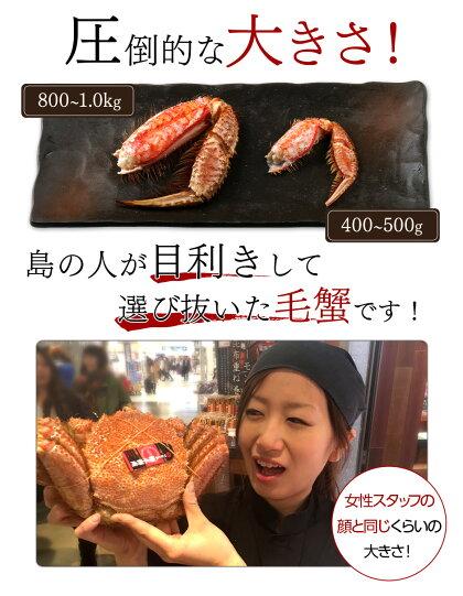 【先行予約受付中】北海道稚内産さくら毛蟹1.0kg【送料無料】毛ガニ毛蟹毛がにカニかに特大1kgギフト贈答北海道お土産お取り寄せプレゼント