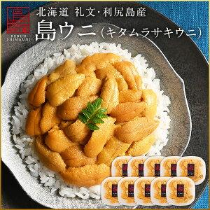 うに ウニ 生キタムラサキウニ 900g(90g×10パック)日本最北の島 北海道 礼文・利尻島産【送料無料】雲丹 無添加 塩水パック ギフト グルメ 食品 寿司 贈り物 塩水うに 生うに ご飯のお供 ご飯