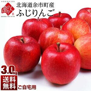【予約販売】北海道余市産 りんご リンゴ3kg(訳あり品・品種:ふじ)【送料無料】 取れたてをお届け北海道産 お土産 お取り寄せ ギフト プレゼント りんご 食品 食べ物 果物 フルーツ