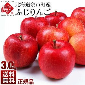 【予約販売】北海道余市産 りんご リンゴ3kg(正規品・品種:ふじ)【送料無料】 取れたてをお届け 北海道産 お土産 お取り寄せ ギフト プレゼント りんご 食品 食べ物 果物 フルーツ