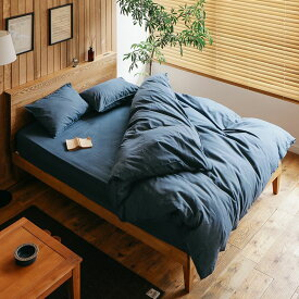 寝具カバーセット Light denim セミダブル 2人用 4点セット 綿100% 西海岸 ヴィンテージ メンズ デニム おしゃれ あす楽対応