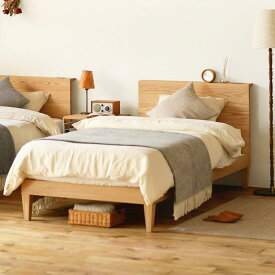 ベッド folk natural シングルサイズ ゴールドプレミアム ポケットコイル マットレス付き ナチュラル ベッドフレーム 西海岸 モダン 北欧 木製 無垢 送料無料
