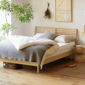ベッド NOANA スタンダード ダブルサイズ プレミアム ポッケットコイル マットレス付き 寝具 北欧 無垢材 ナチュラル 送料無料