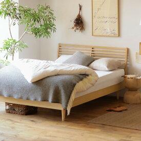 ベッド NOANA スタンダード クイーンサイズ ナノテックプレミアム ポケットコイル マットレス付き 寝具 北欧 無垢材 ナチュラル 送料無料