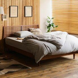 ベッド NOANA-BROWN スタンダード セミダブルサイズ プレミアム ポッケットコイル マットレス付き 寝具 北欧 無垢材 ブラウン 送料無料