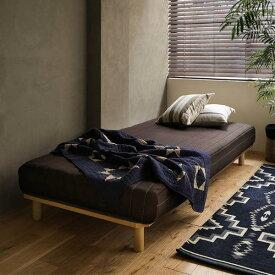 マットレスベッド シングルサイズ 脚付き マットレス付き ベッド Paula ロータイプ シンプル ナチュラル ヴィンテージ 即日出荷可能 送料無料