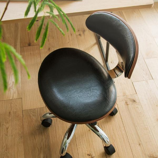 デスクチェア ヴィンテージ 西海岸 ブルックリン 北欧 モダン レザー 木製 おしゃれ おすすめ 椅子 自宅 オフィス キャスター ノースチェアー KNOX-2050
