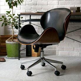 デスクチェア ヴィンテージ 西海岸 ブルックリン 北欧 モダン レザー 木製 おしゃれ おすすめ 椅子 自宅 オフィス キャスター ノースチェア KNOX
