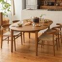 ダイニング テーブル ダイニングテーブル 伸長式 伸縮式 folk ブラウン 幅110 幅170 北欧 ヴィンテージ おしゃれ 送料…